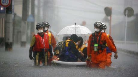 Lluvias masivas en Japón dejan al menos un muerto y dos desaparecidos, mientras varias prefecturas se encuentran bajo el máximo nivel de riesgo