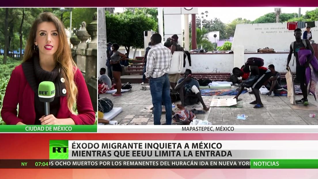 Éxodo migrante inquieta a México mientras que EE.UU. limita la entrada