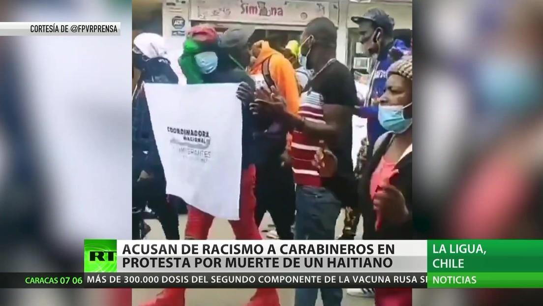 Acusan de racismo a carabineros en una protesta en Chile por la muerte de un haitiano