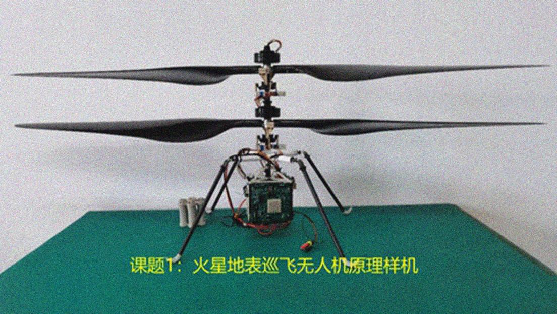 FOTO: China presenta un helicóptero robótico en miniatura que apoyará sus futuras misiones en Marte