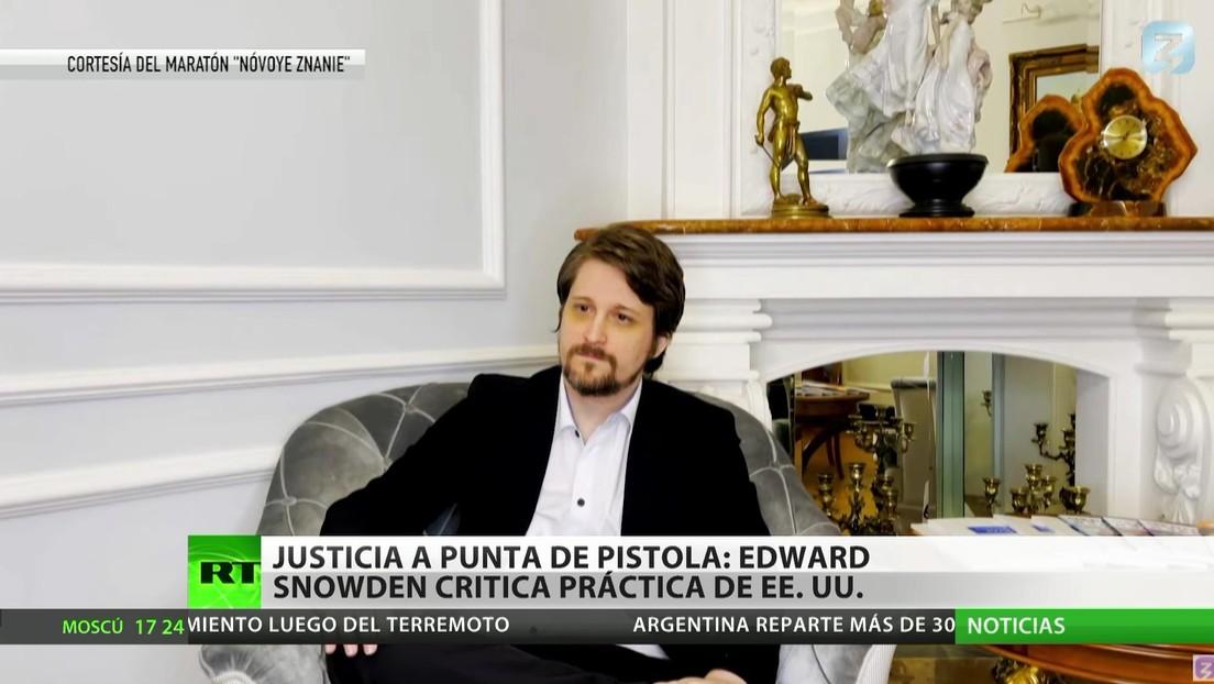 """""""Justicia a punto de pistola"""": Edward Snowden critica actuaciones de EE.UU."""