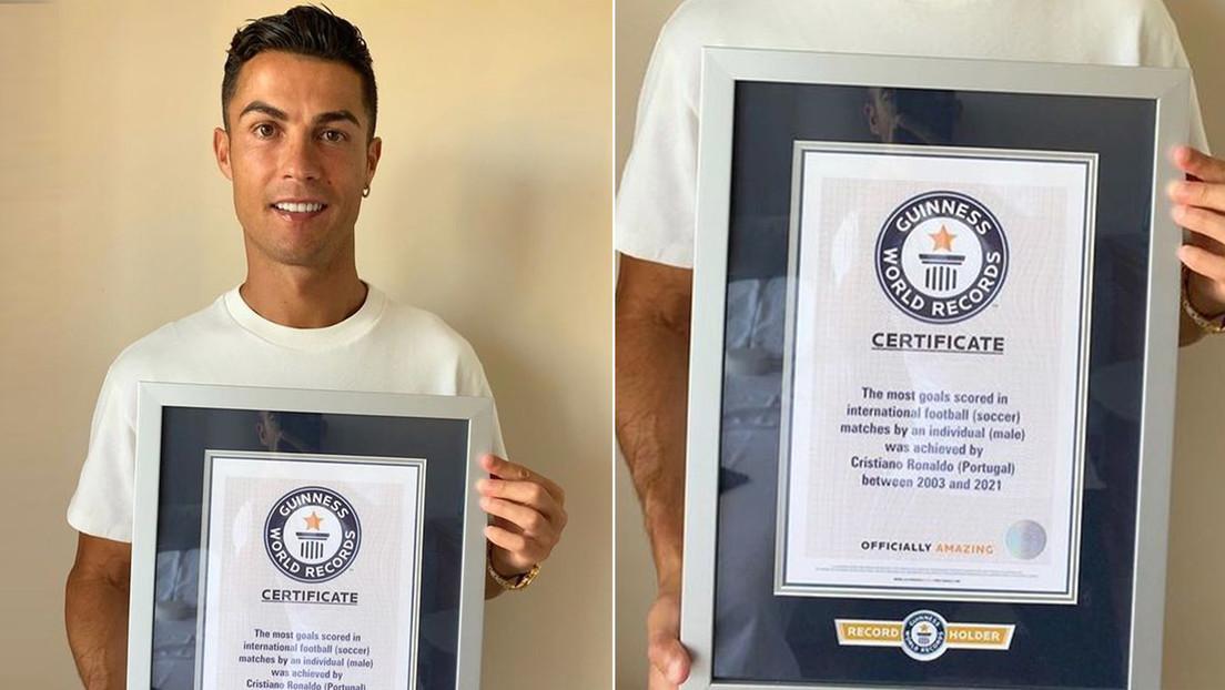 Cristiano Ronaldo logra el récord Guinness al mayor goleador en partidos internacionales