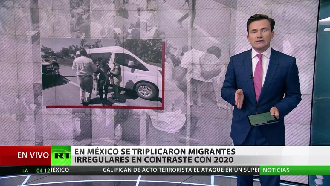México: Se triplica la cantidad de migrantes irregulares en comparación con el 2020