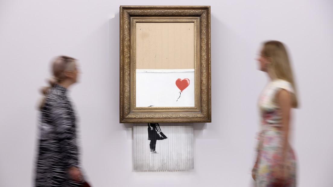 La obra de Banksy que se autodestruyó al ser vendida se volverá a subastar