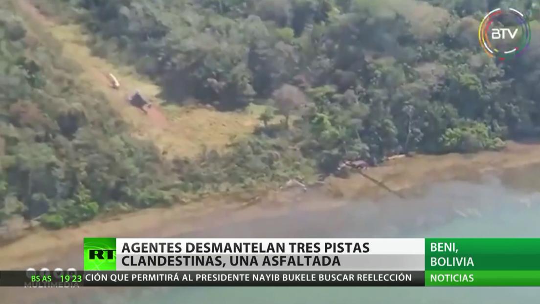 Desmantelan en Bolivia tres pistas clandestinas de tráfico de cocaína