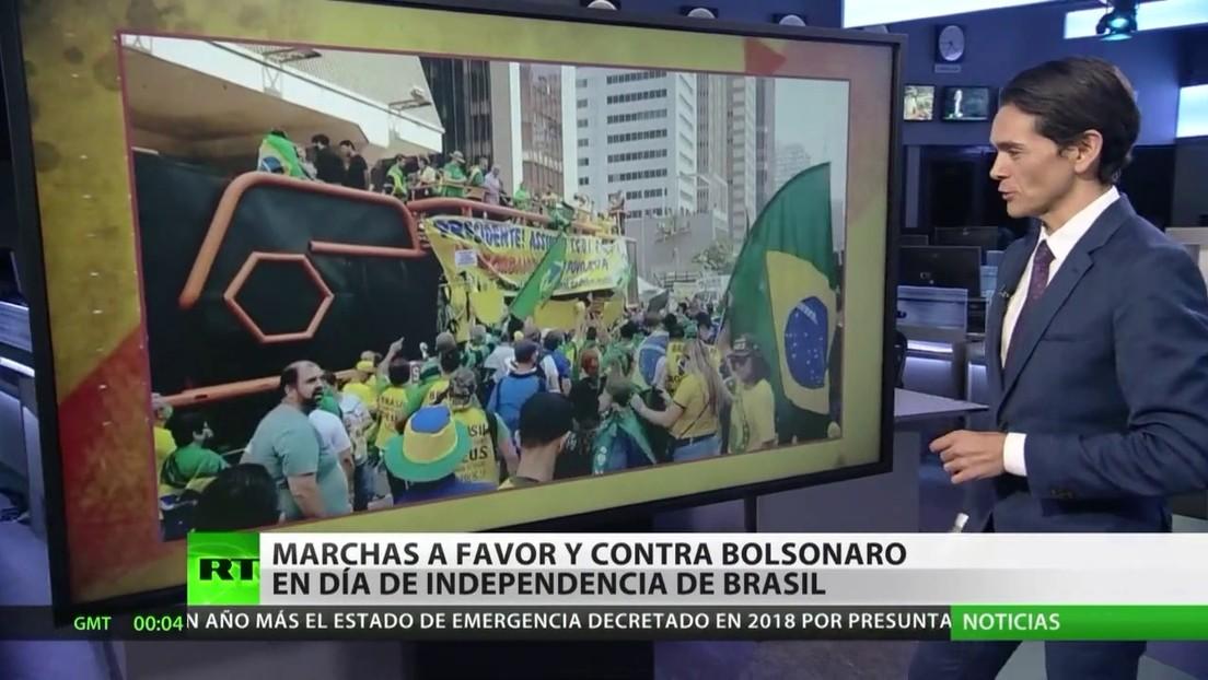 Marchas a favor y en contra de Bolsonaro en el Día de la Independencia de Brasil