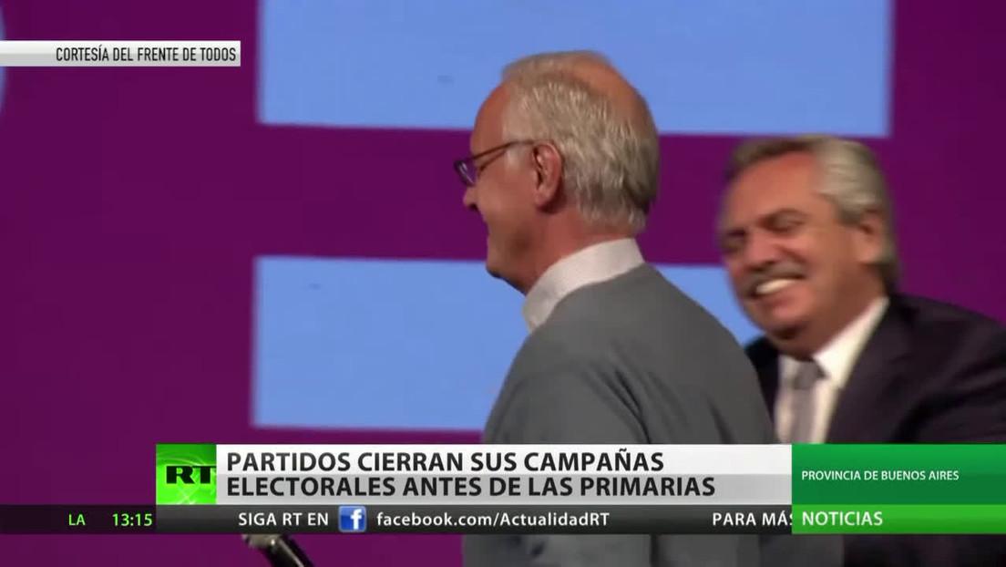 Partidos cierran sus campañas electorales para las primarias en Argentina