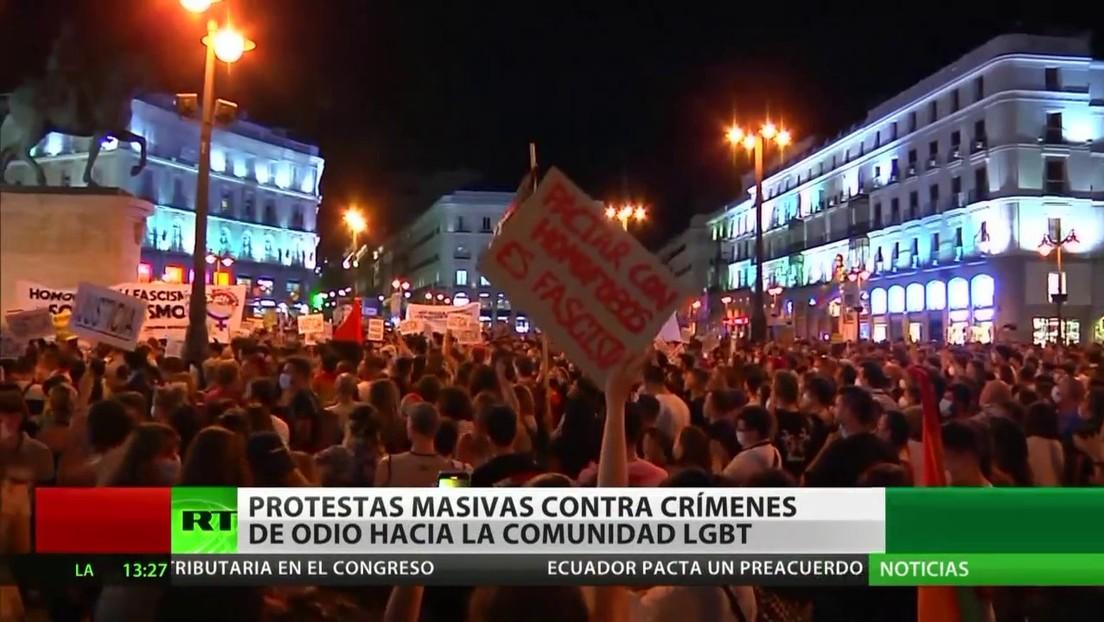 Protestas en Madrid contra crímenes de odio hacia la comunidad LGBTI