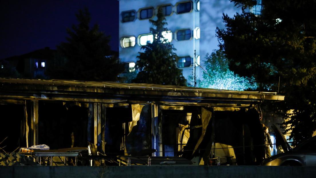 Al menos 14 fallecidos en el incendio de un hospital para el tratamiento de covid-19 en Macedonia del Norte