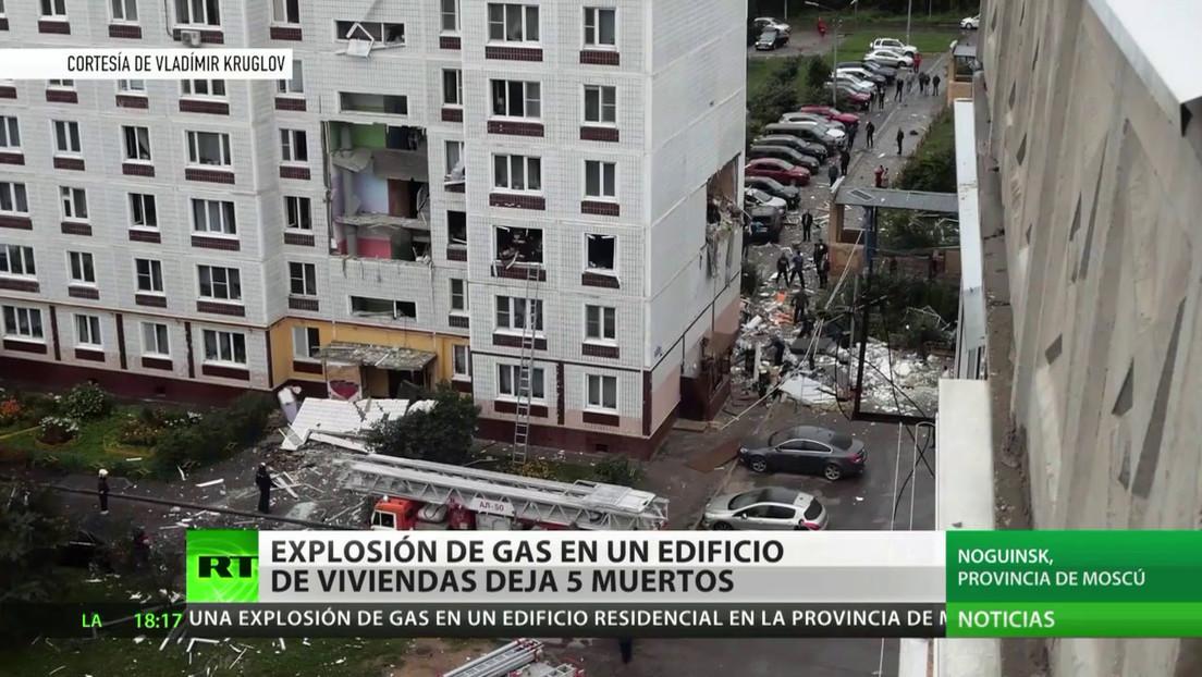 Explosión de gas en un edificio de viviendas deja 5 muertos en Rusia