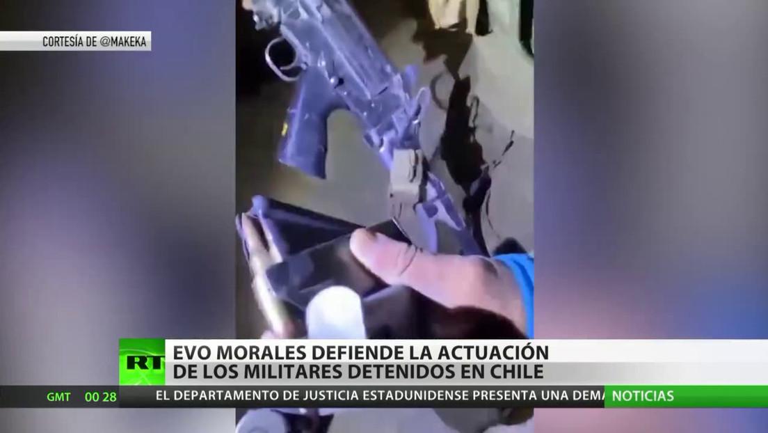 Evo Morales defiende la actuación de los militares bolivianos detenidos en Chile