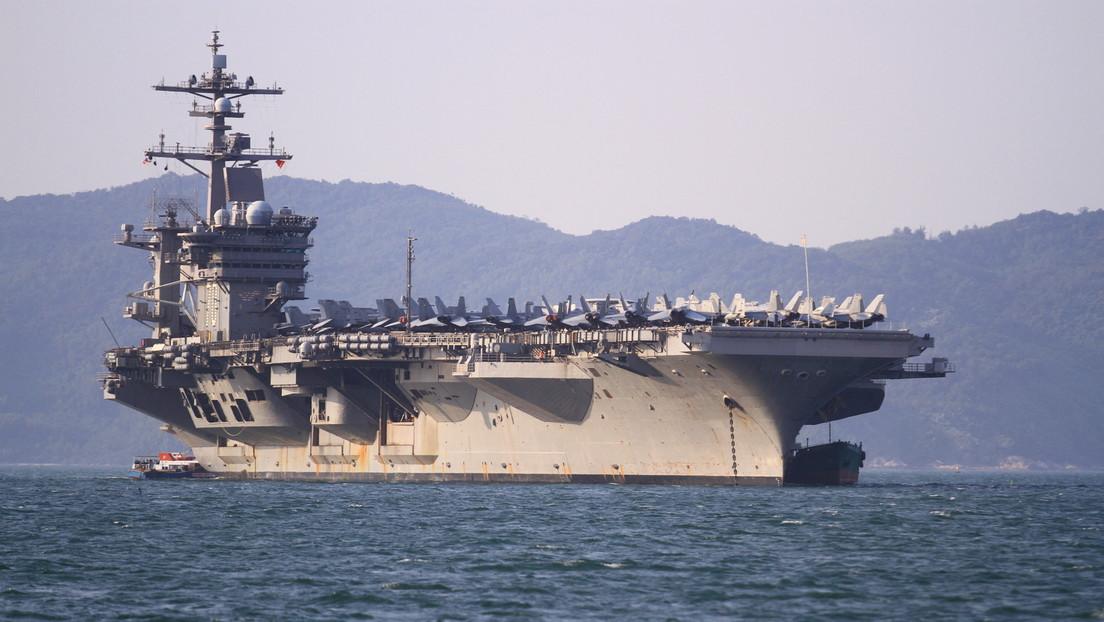 El grupo de ataque del portaviones USS Carl Vinson, el primero en desplegarse con cazas furtivos F-35C, ingresa en el mar de la China Meridional