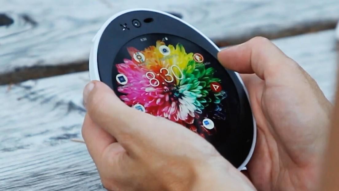 Lanzan el Cyrcle Phone 2.0, un peculiar teléfono inteligente de pantalla redonda hecho de biomateriales