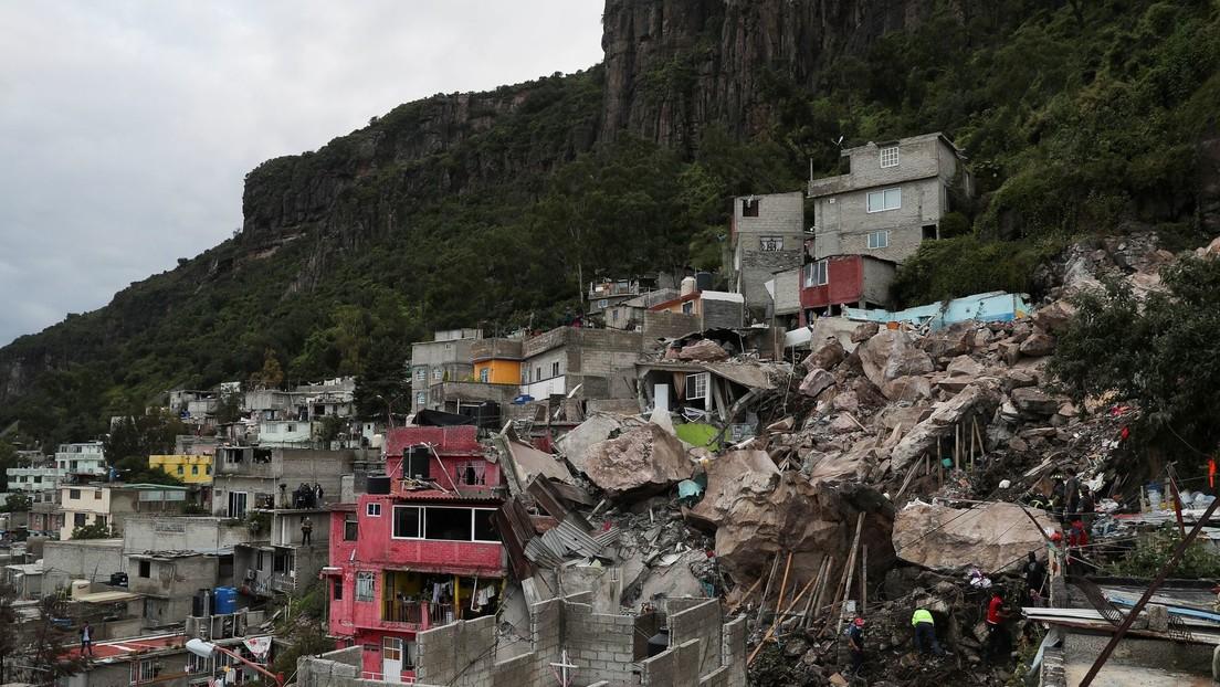 Un derrumbe del Cerro del Chiquihuite deja al menos 2 muertos y 10 desaparecidos bajo grandes escombros en el Estado de México (FOTOS, VIDEOS)