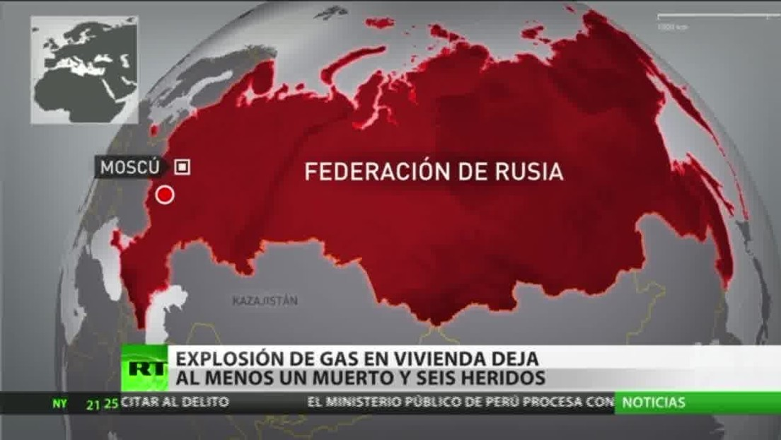 Una explosión de gas en una vivienda deja al menos un muerto y seis heridos en una ciudad del oeste de Rusia