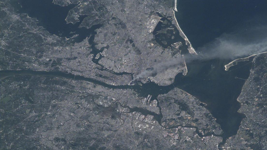 Una imagen de satélite de la NASA muestra el impacto de los atentados del 11 de septiembre de 2001 (FOTO)