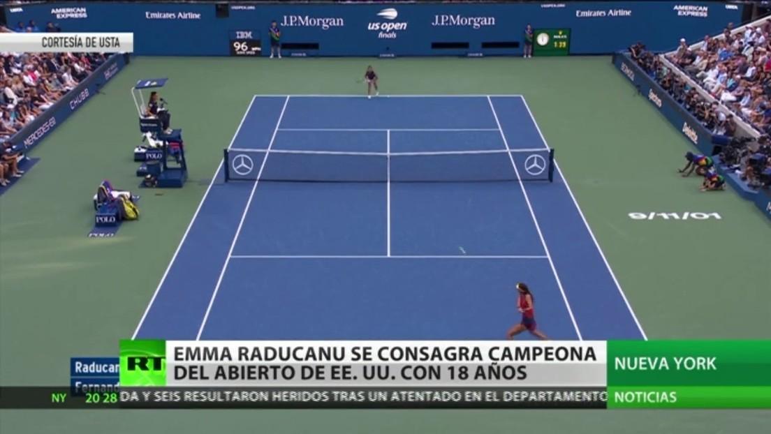 Con tan solo 18 años, la británica Emma Raducanu se consagra campeona del Abierto de EE.UU.