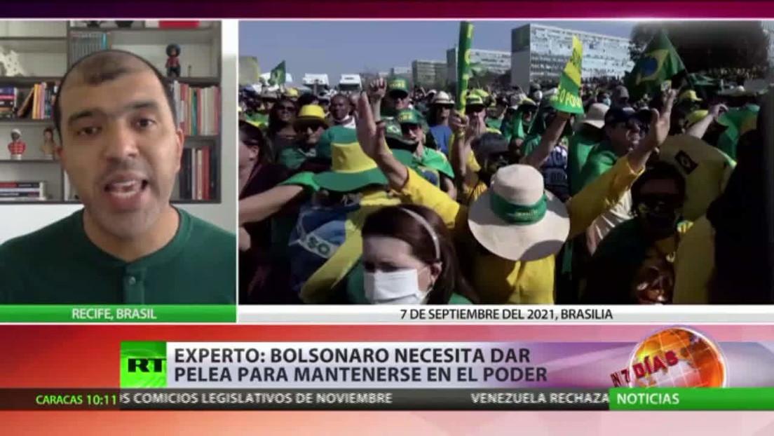 Masivas protestas a favor y en contra de Bolsonaro en varias ciudades de Brasil