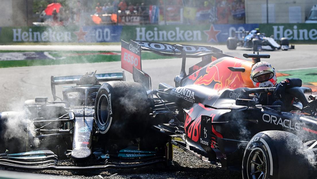 VIDEO: Hamilton estuvo a punto de quedar decapitado en el choque con Verstappen si no fuera por este detalle del bólido