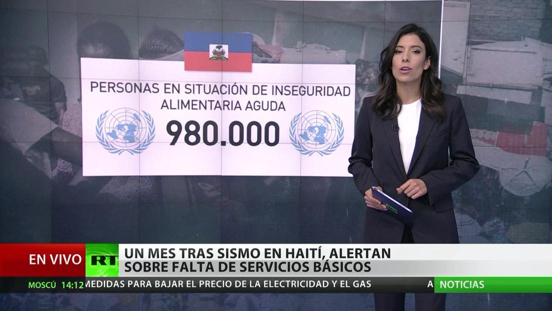 Haití: Un mes tras el terremoto, alertan sobre la falta de servicios básicos