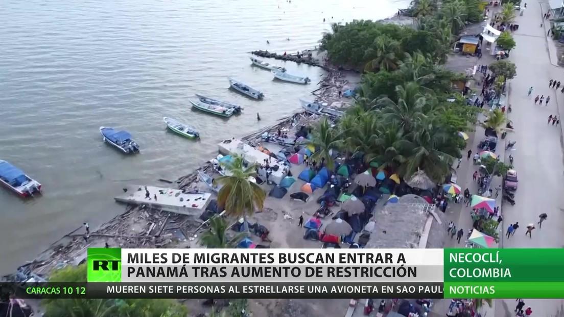 Colombia: Miles de migrantes buscan entrar a Panamá tras un aumento de restricciones