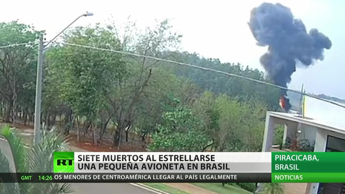 Brasil: Siete muertos al estrellarse una avioneta en una zona forestal