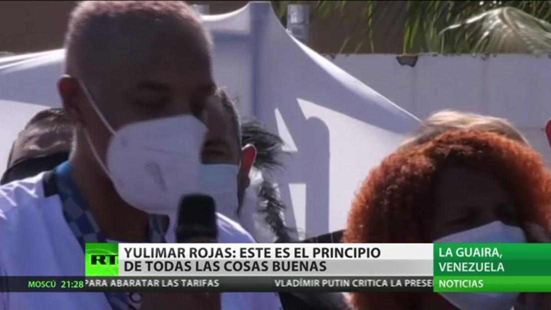 Los venezolanos reciben a su campeona olímpica Yulimar Rojas