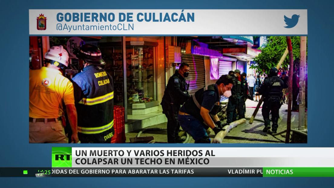 México: Un muerto y varios heridos al colapsar el techo de una zapatería