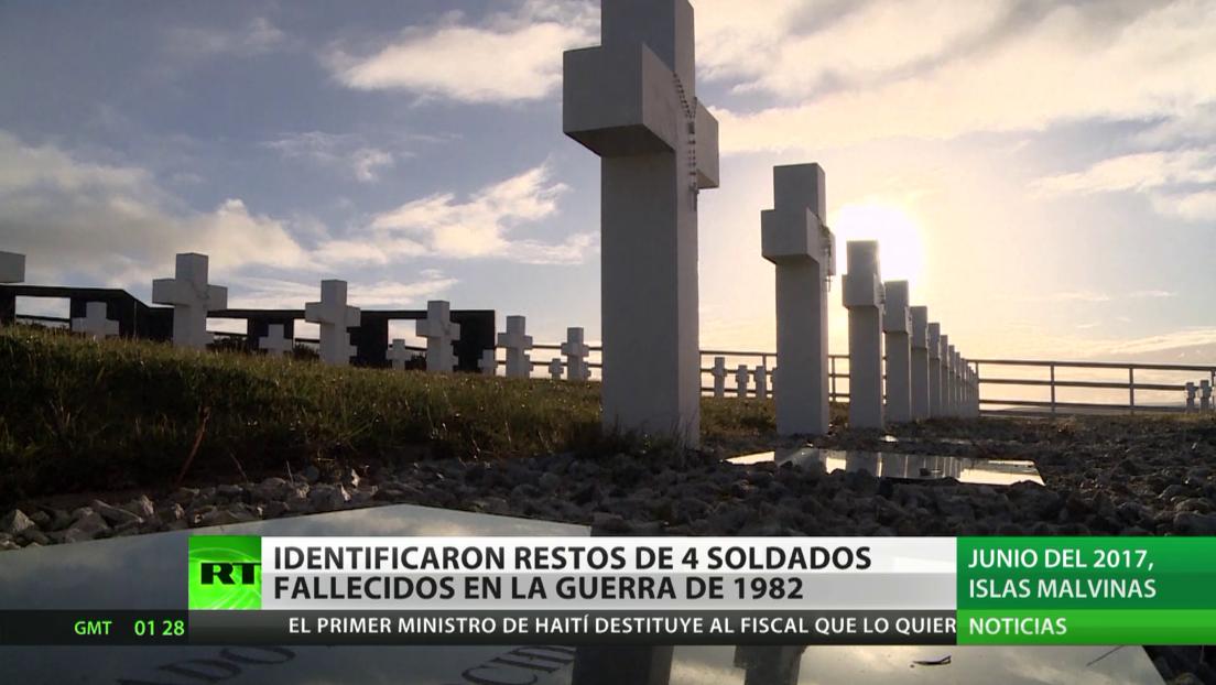 Argentina: Identifican restos de 4 soldados fallecidos durante la guerra de 1982