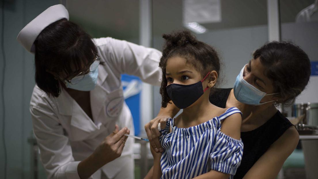 Cuba avanza en la inmunización masiva de niños con sus propias vacunas anticovid