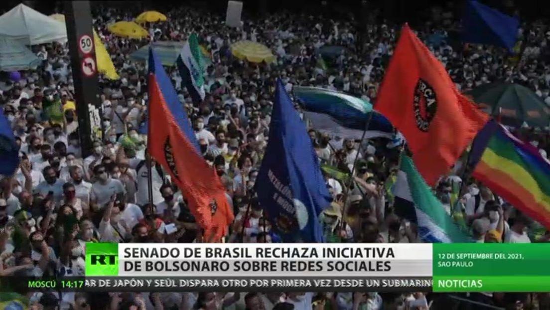 El Senado de Brasil rechaza la iniciativa de Bolsonaro sobre redes sociales