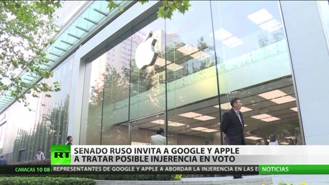 El Senado ruso invita a Google y Apple a tratar la posible injerencia en voto en las elecciones legislativas