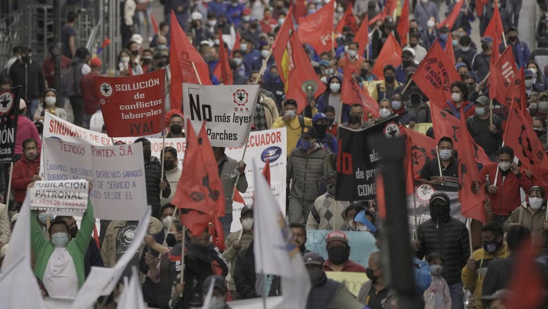 Ecuador vive una segunda jornada de movilización sindical nacional contra el Gobierno de Guillermo Lasso