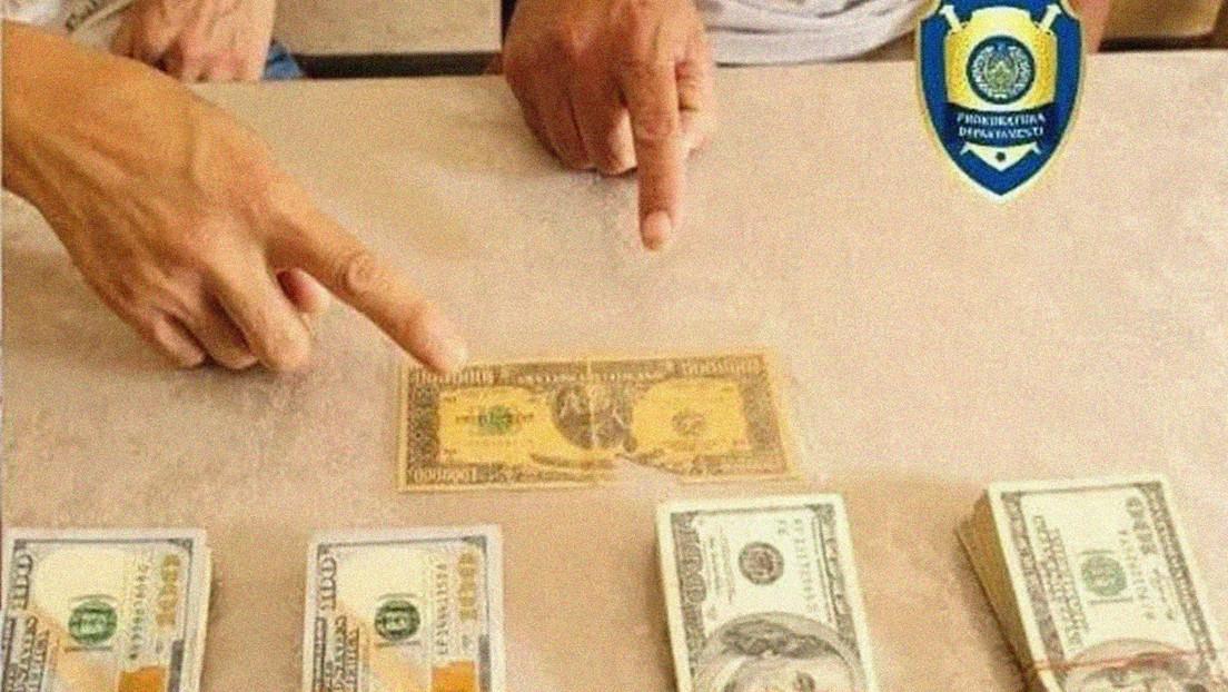 Detienen en Uzbekistán a dos hombres que trataban de vender un billete de 1 millón de dólares