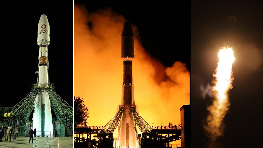 VIDEO: Ponen en órbita 34 satélites OneWeb con un cohete Soyuz-2.1b