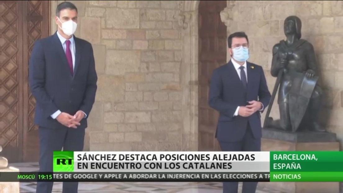 Sánchez afirma que las posiciones están alejadas tras su encuentro con el presidente de la Generalitat de Cataluña