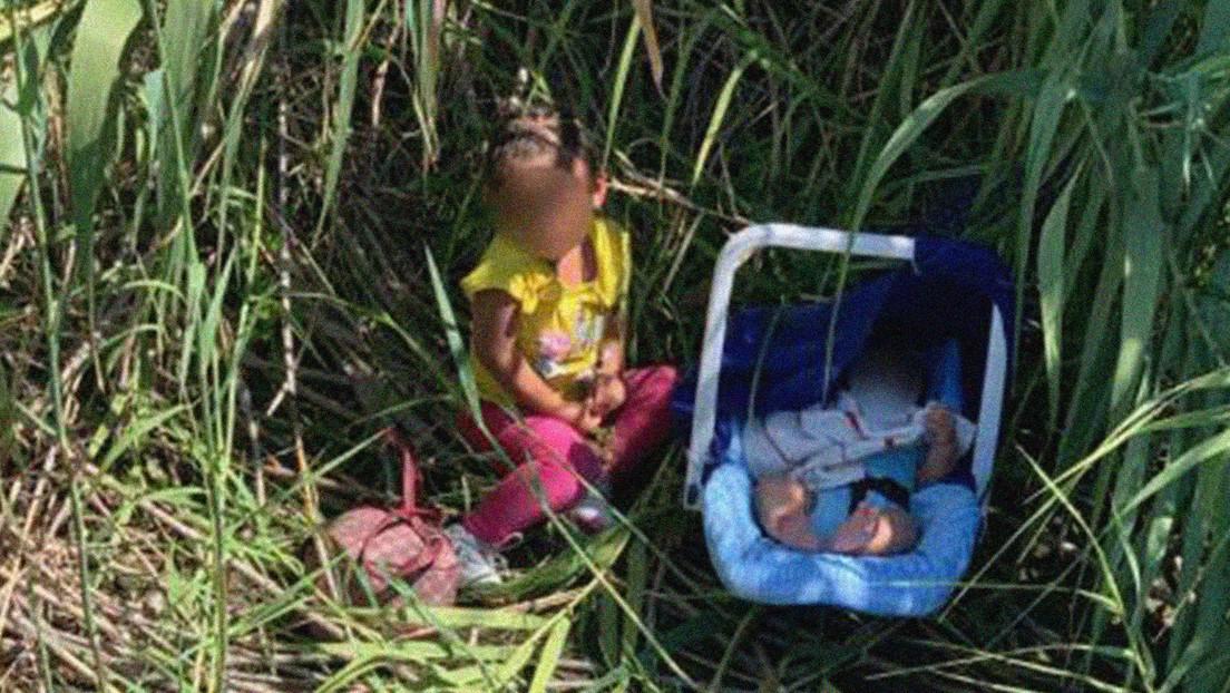 Encuentran a una niña hondureña de dos años junto a su hermano de tres meses abandonados en la orilla del río Bravo en la frontera sur de EE.UU.