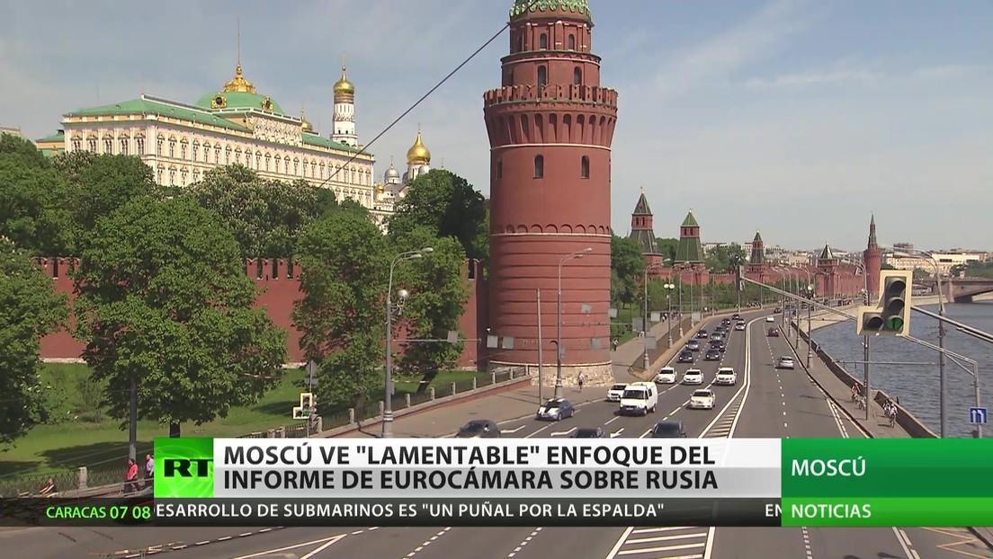 """Moscú califica de """"lamentable"""" el enfoque del informe de la Eurocámara sobre Rusia"""