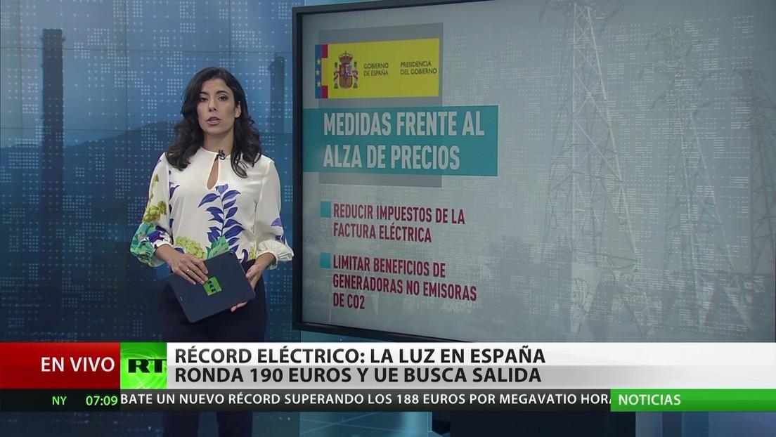 España: La electricidad ronda los 190 euros y la UE busca una salida