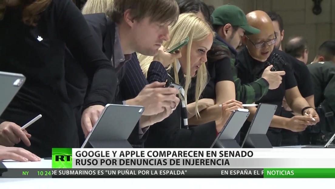 Google y Apple comparecen en el Senado de Rusia por acusaciones de injerencia