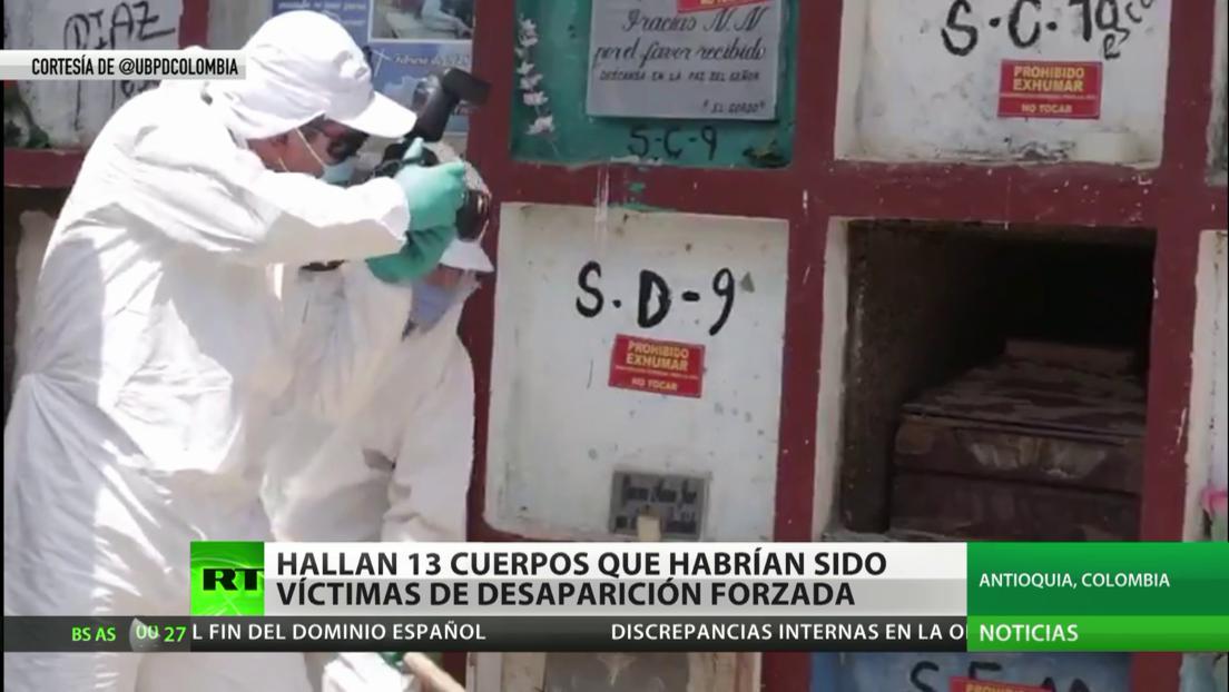 Colombia: Hallan 13 cuerpos de presuntas víctimas de desaparición forzada