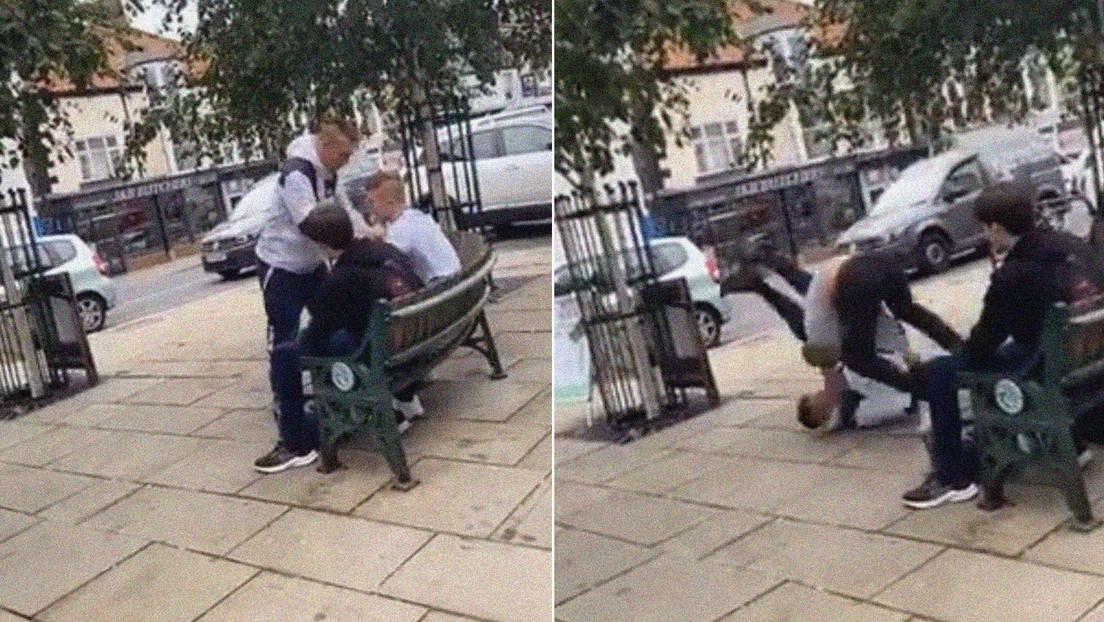VIDEO: Un campeón de jiu-jitsu de 16 años manda al suelo a un hombre que se abalanzó sobre él y le mordió la oreja en un parque