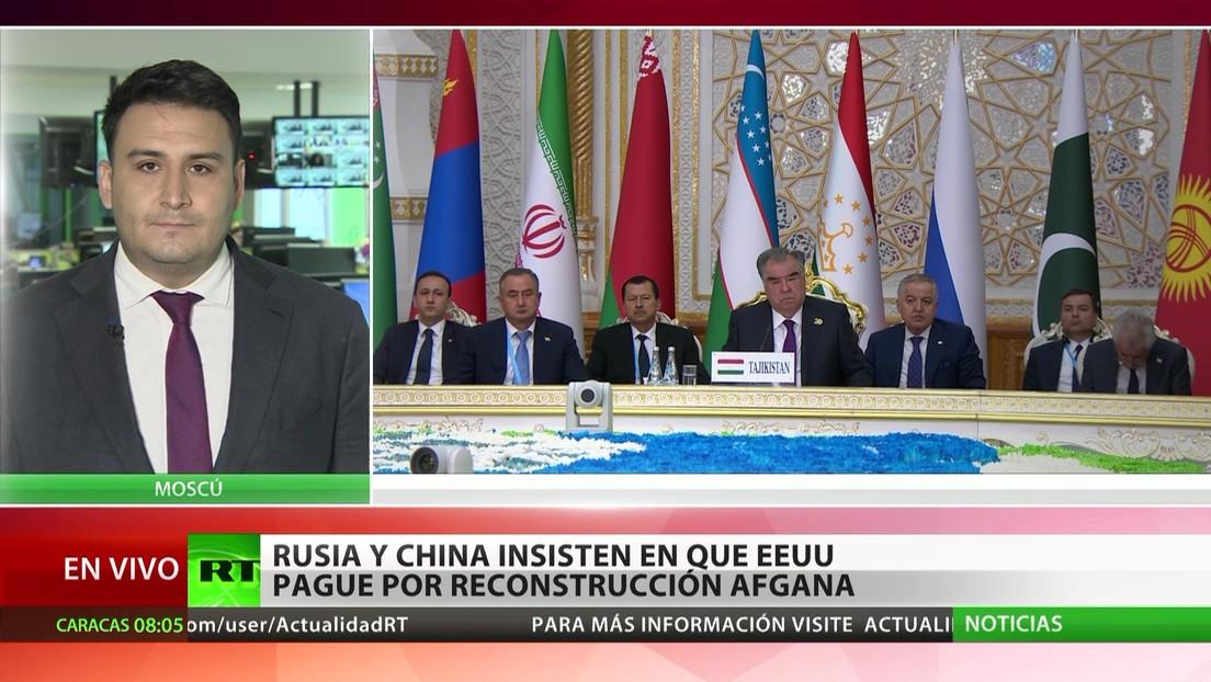 Moscú y Pekín insisten en que Washington costee la reconstrucción afgana