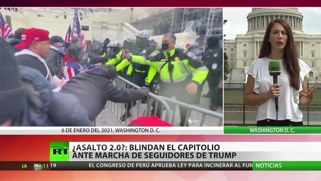 EE.UU.: Temor a un nuevo asalto al Capitolio ante una marcha de seguidores de Trump