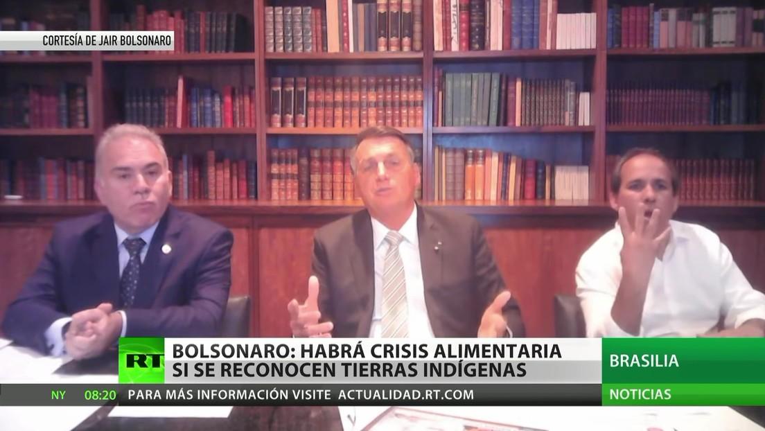 Bolsonaro: El reconocimiento de las tierras indígenas amenaza con una crisis alimentaria