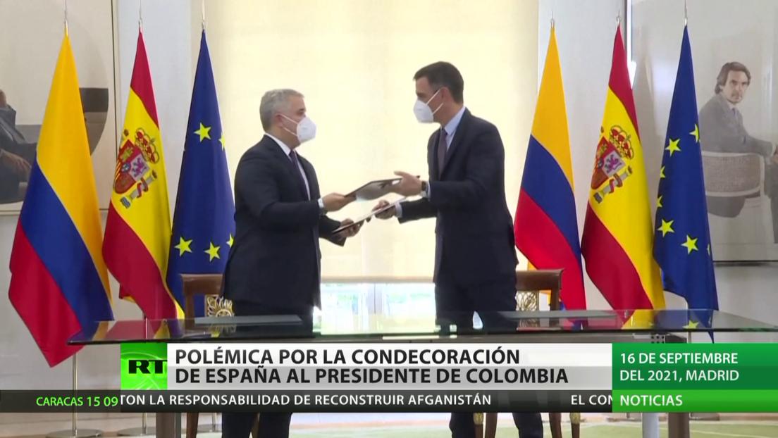 Polémica en Colombia por la condecoración de España al presidente Iván Duque