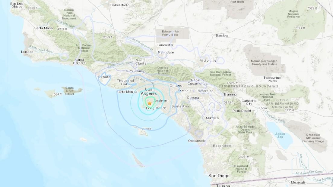 Se registra un sismo de magnitud 4,3 cerca de Los Ángeles