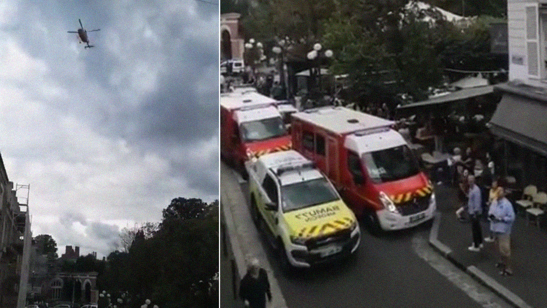Cuatro heridos al chocar un coche contra la terraza de un restaurante en Francia