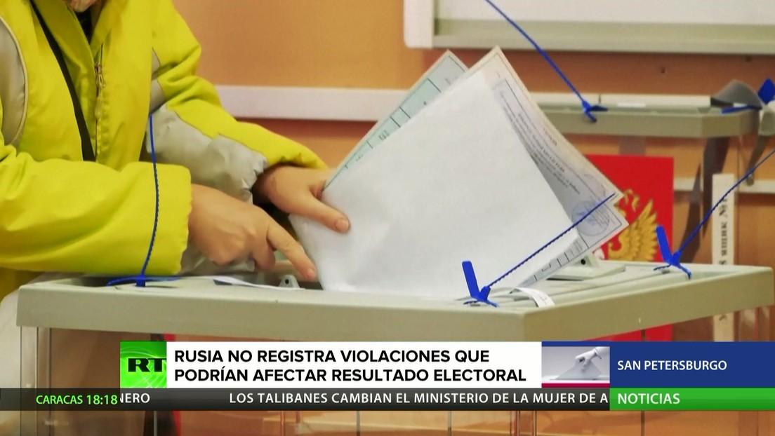 Rusia no registra violaciones que podrían afectar el resultado final de las elecciones a la Duma Estatal