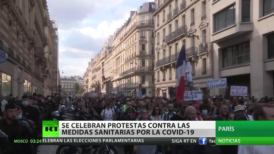 Se celebran las protestas contra las medidas sanitarias anticovid en varios países de Europa